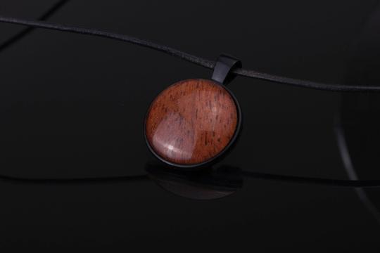 Anhänger aus Holz schwarz Holzanhänger