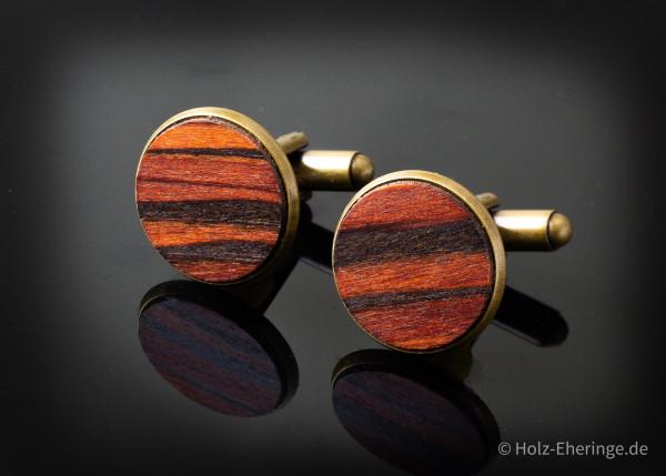 Bronzefarben Furnier Manschettenknöpfe